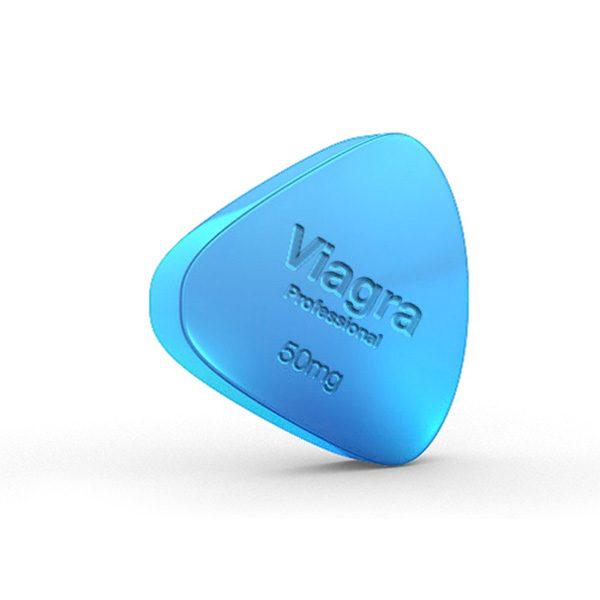 La foto es una tableta de Viagra Professional de 50 mg.
