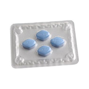 en la foto hay un plato con tabletas de Viagra Original